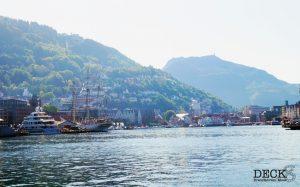 Blick über den Hafen in Bergen
