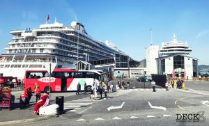 Blick auf das Kreuzfahrtterminal in Bergen