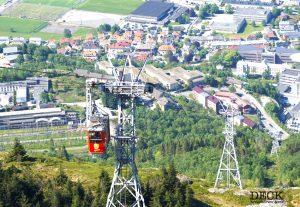 Seilbahn zum Aussichtspunkt Ulriken in Bergen