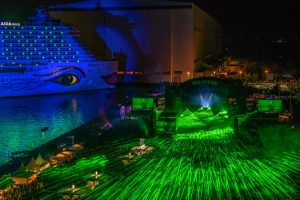 Lasershow beim AIDA Open Air in Papenburg