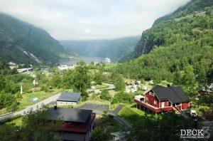 Aussicht aus dem Panoramabus auf den Geirangerfjord