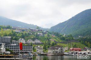 Blick auf den Dalsnibba von Geiranger aus