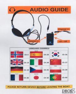 Sprachübersicht des Audio-Guide für die Sightseeingtour Geirgangerfjord