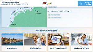 Screenshot My AIDA Portal