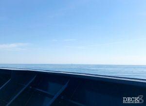 Sicht vom Bug der Mein Schiff 4 auf das Meer
