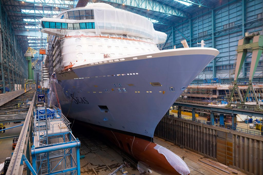 Spectrum of the Seas in der Meyer Werft in Papenburg
