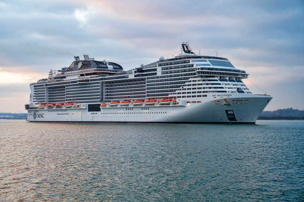 MSC Bellissima von MSC Cruises in Southampton