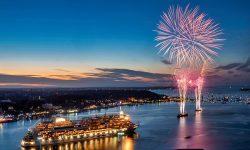 AIDA-Feuerwerk bei der Kieler Woche