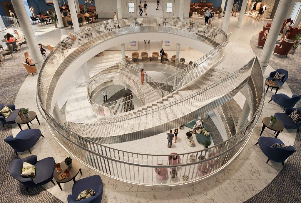 Atrium des Kreuzfahrtschiffs Iona von P & O Cruises