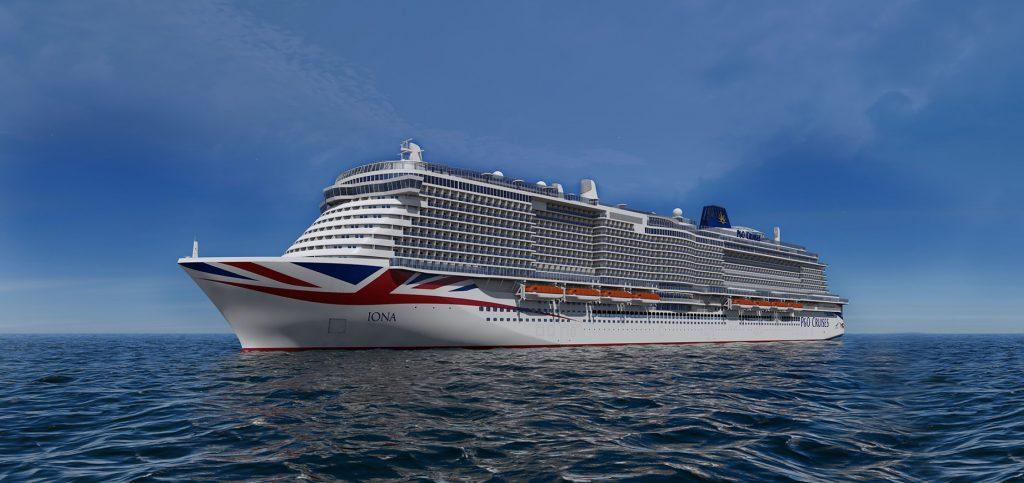 Kreuzfahrtschiff Iona von P&O Cruises auf hoher See