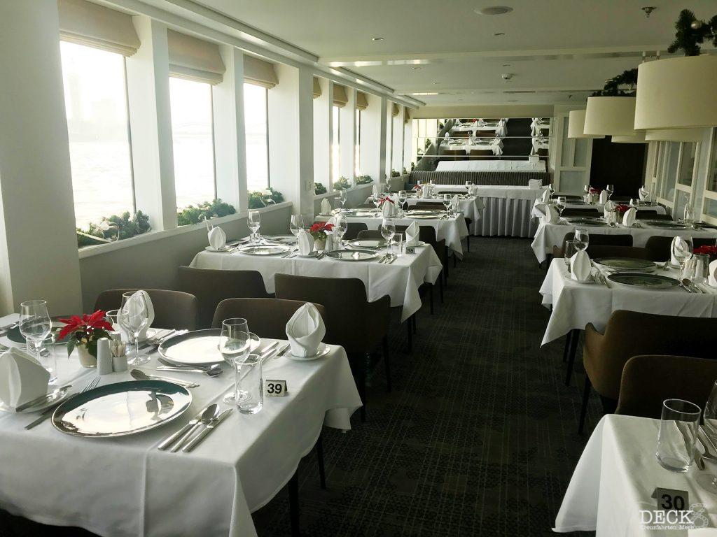 Blick ins Hauptrestaurant Vier Jahreszeiten der  MS Asara von Phoenix Reisen (Schiffsportrait)